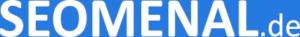 SEOMENAL Logo - blauer Hintergrund mit weißer Schrift